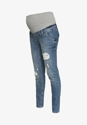 JEANS MOMFIT DESTROYED - Jeans Skinny Fit - stonewash