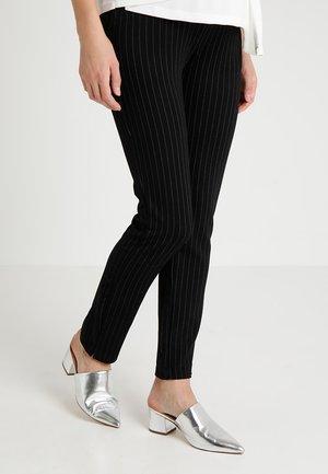 PANTS STRIPED - Pantaloni - black