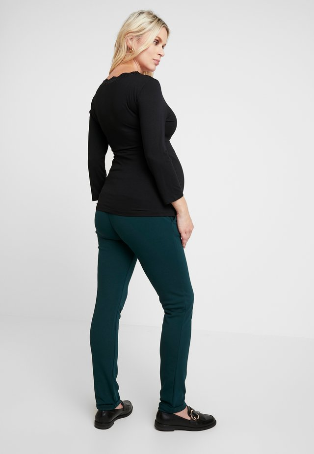 PANTS PONTE DI ROMA TURN UP - Pantalon classique - teal