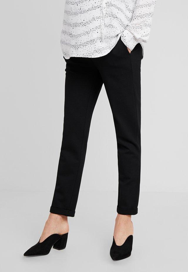 PANTS PONTE DI ROMA TURN UP - Pantalon classique - black