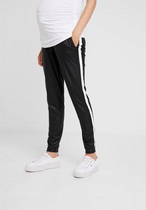 PANTS PIPING - Broek - black