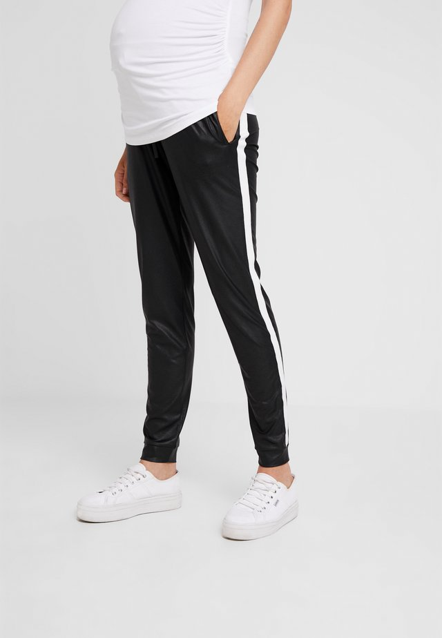 PANTS PIPING - Stoffhose - black