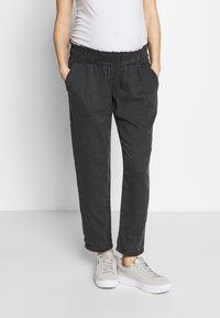 LOVE2WAIT - PANTS LINNEN TOUCH - Spodnie materiałowe - charcoal - 0