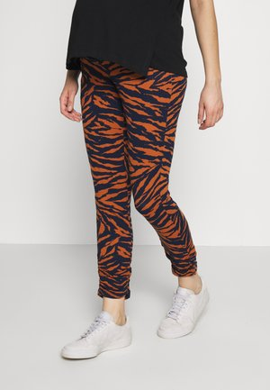 PANTS ANIMAL PRINT - Legging - rusty