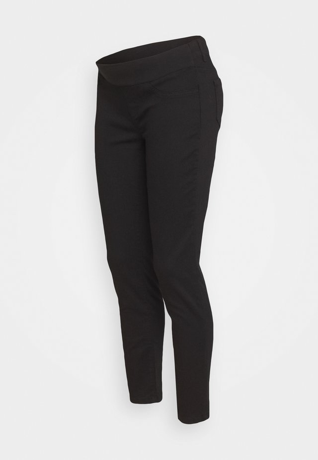 KEIRA CROPPED - Slim fit -farkut - black
