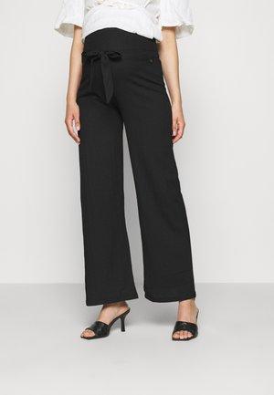 PANTS CRINCLE - Kalhoty - black