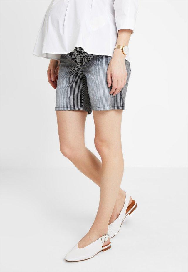 Short en jean - white/black
