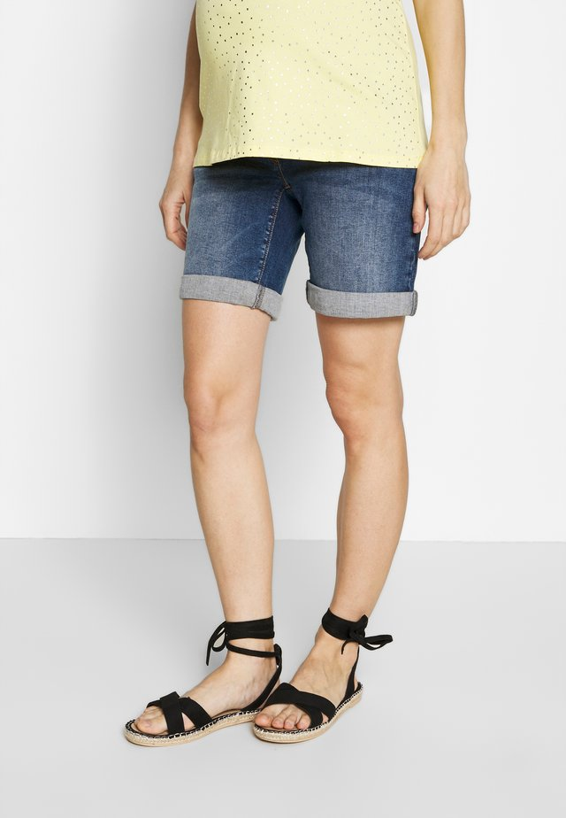 Denim shorts - stone wash
