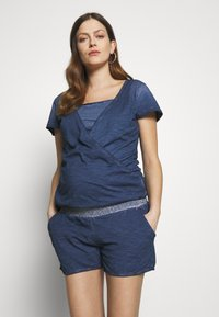 LOVE2WAIT - PLAYSUIT NURSING WASHED - Mono - blue - 0