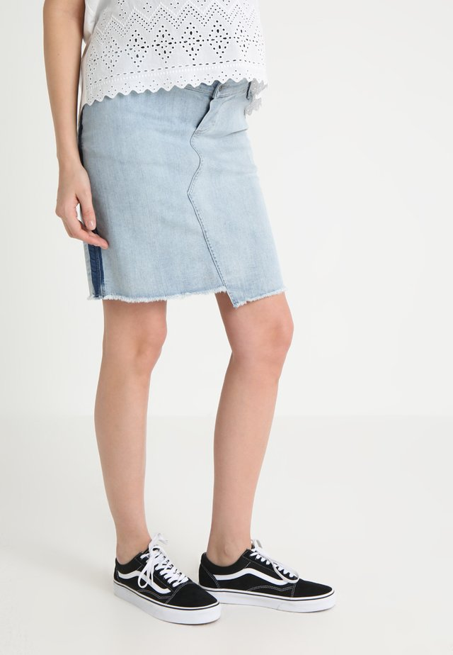 SKIRT TAPE - Denimová sukně - light blue