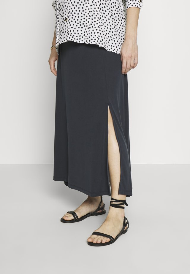 SKIRT LONG TOUCH - Maxi skirt - charcoal