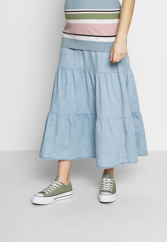 LONG SKIRT SMOCK - Maxi skirt - light wash
