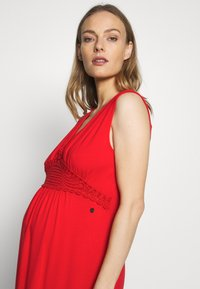 LOVE2WAIT - NURSING CROCHET - Vestido largo - red - 4