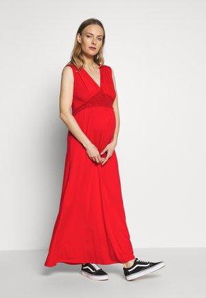 NURSING CROCHET - Maxi dress - red