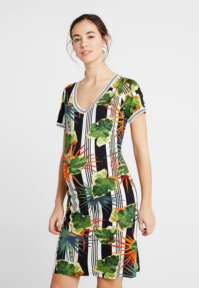 DRESS NURSING HAWAII - Etui-jurk - white