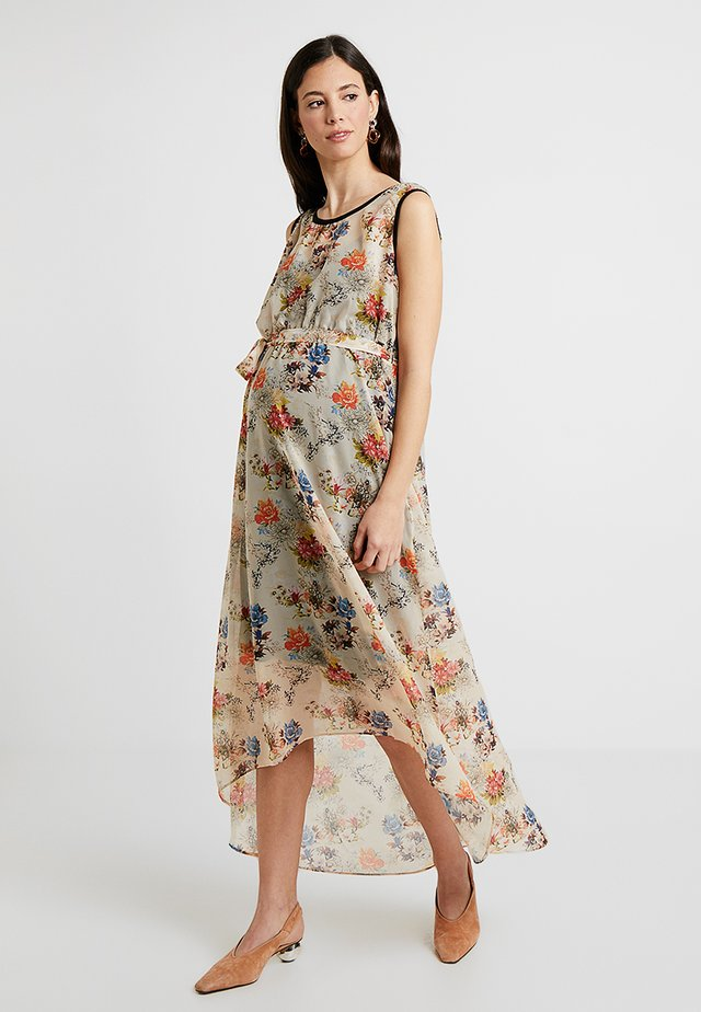 LONG DRESS FLOWER - Maxi-jurk - sand