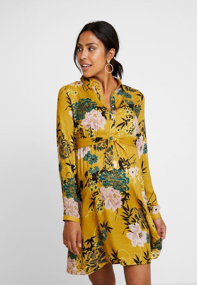 DRESS FLOWER - Shirt dress - ocre
