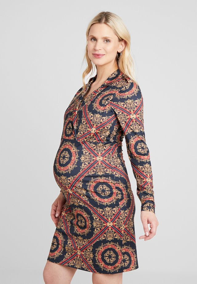 DRESS BAROCK - Žerzejové šaty - black/multi-coloured