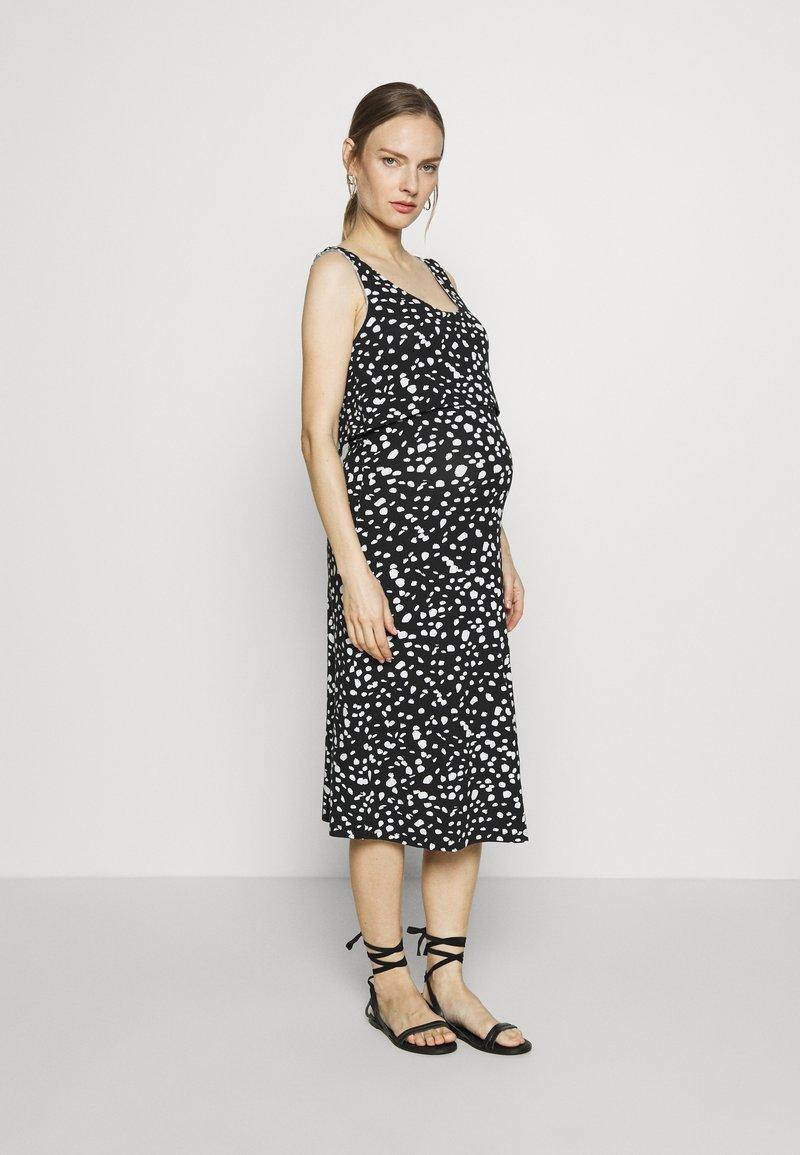 LOVE2WAIT - DRESS ELASTIC NURSING  - Sukienka z dżerseju - black
