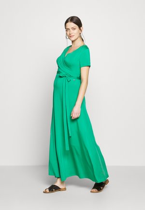 LONG DRESS NURSING - Vestido largo - green