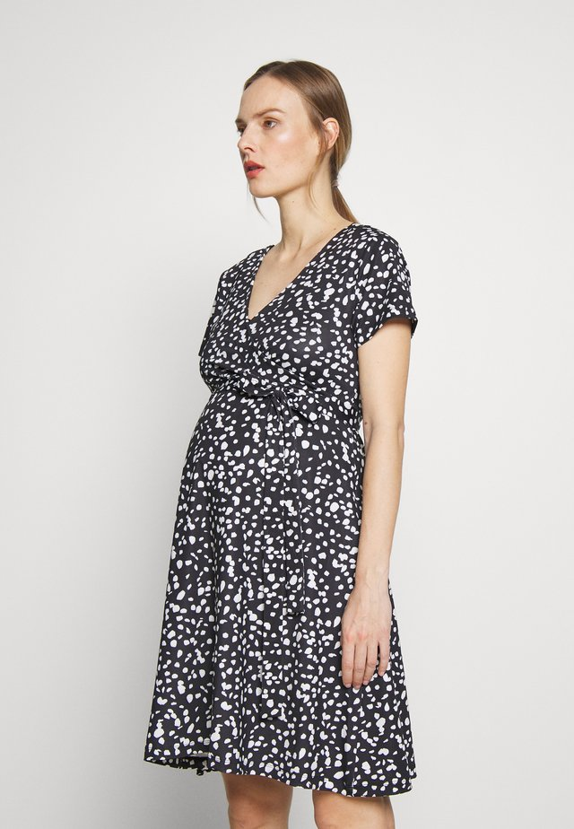 DRESS NURSING ANIMAL DOTS - Korte jurk - dessin
