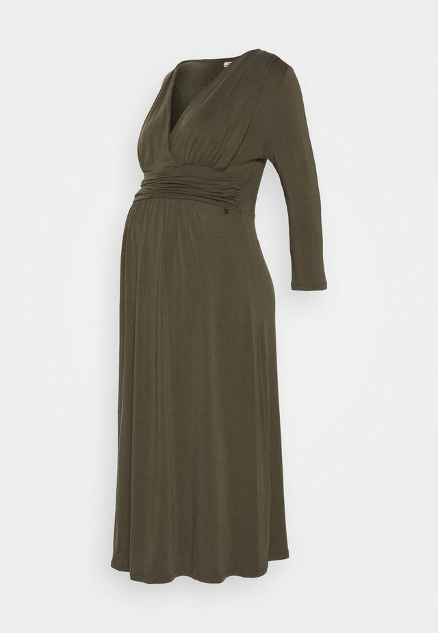 DRESS NURSING - Jersey dress - olive