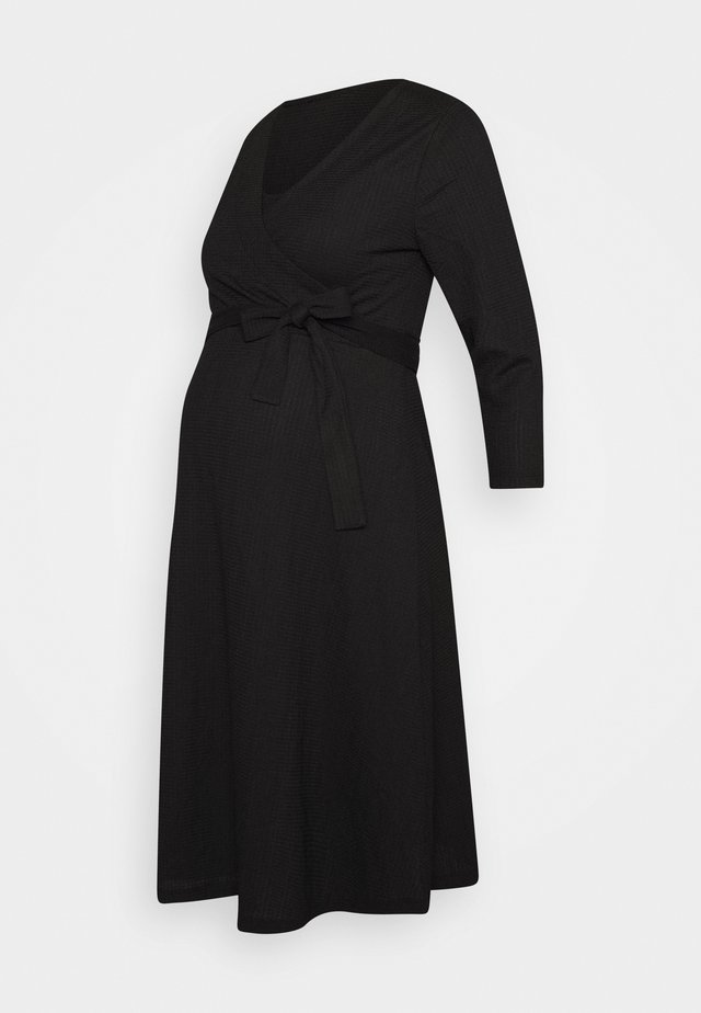 DRESS NURSING CRINCLE - Trikoomekko - black