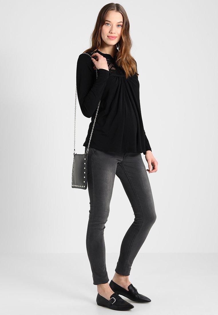LOVE2WAIT NURSING ORGANIC - Bluzka z długim rękawem - black