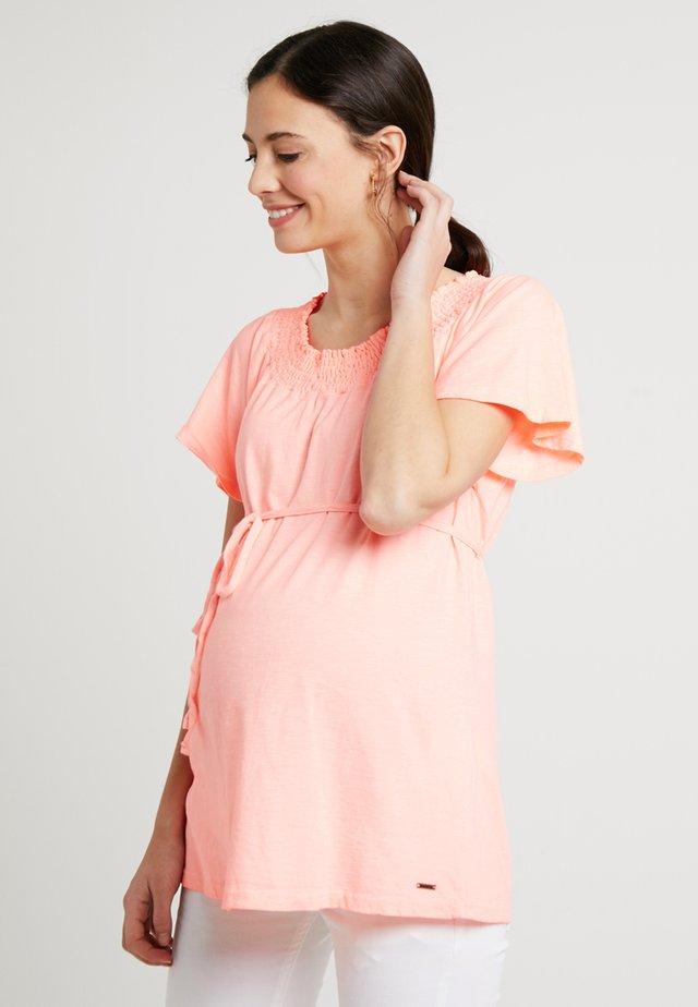 SQUARE NECK - T-shirt basic - orange