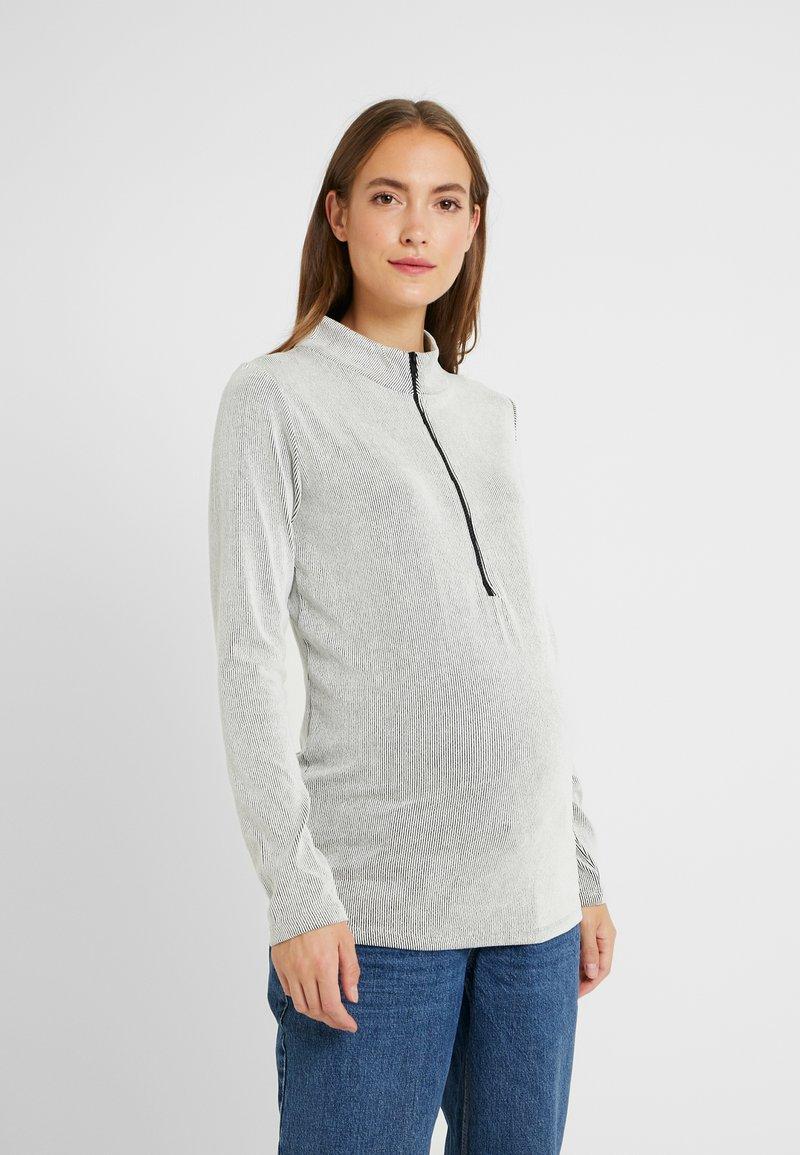 LOVE2WAIT - STRIPED ZIPPER NURSING - Langarmshirt - pinstripe white
