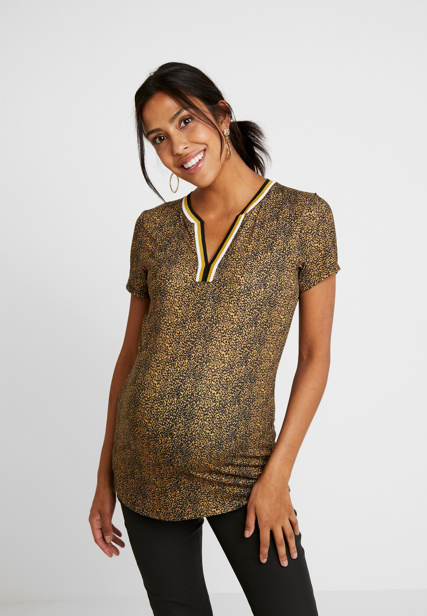 Con Love2wait LeopardT shirt Stampa Ocre thQsrdCx