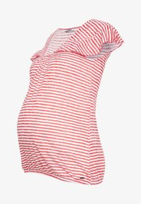 LOVE2WAIT - RUFFLED STRIPED - Printtipaita - red - 4