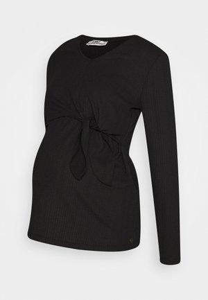 NURSING CRINCLE - Long sleeved top - black