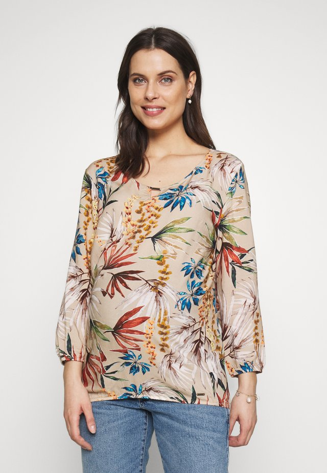 BLOUSE FLOWERDESSIN - Bluse - off-white/multi-coloured