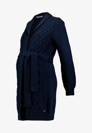 CARDIGAN CABLE - Kardigan - navy
