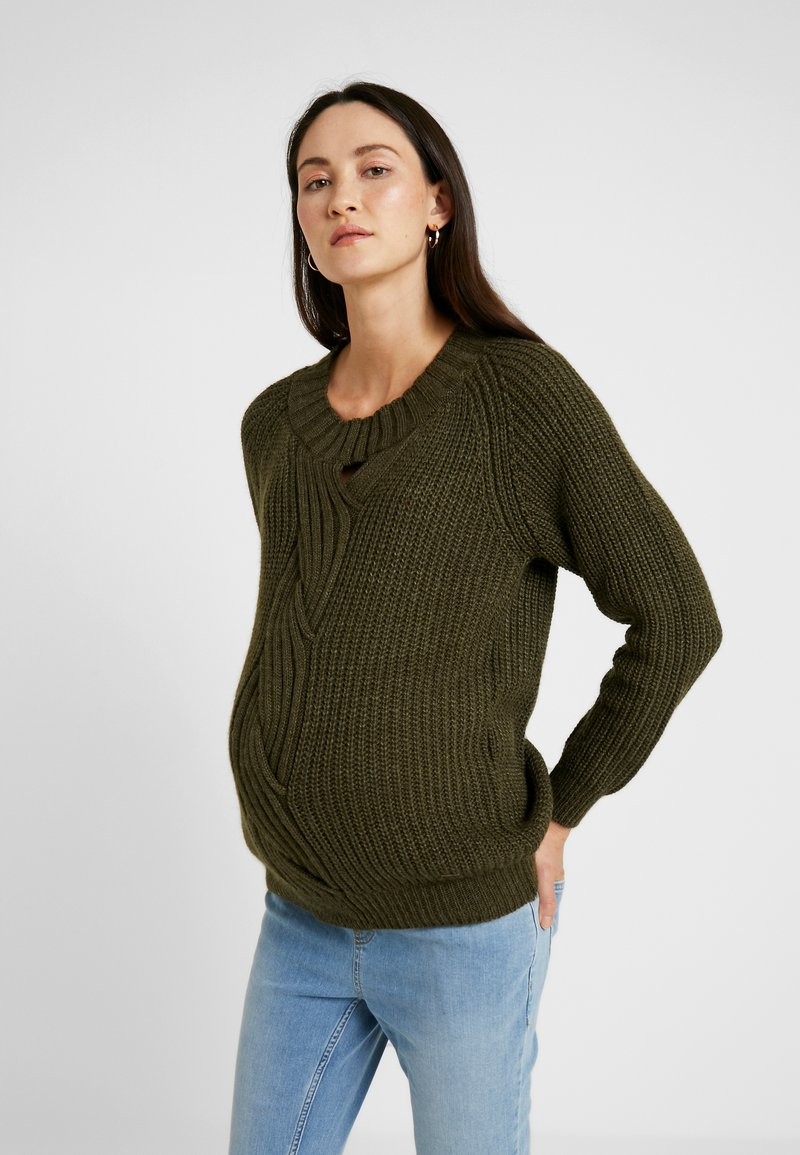 LOVE2WAIT - CABLE - Strickpullover - green