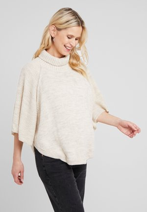 PONCHO - Cape - clay