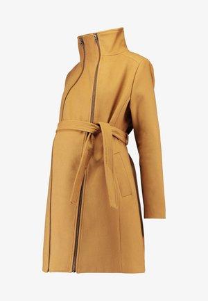 COAT DOUBLE ZIPPER - Zimní kabát - camel