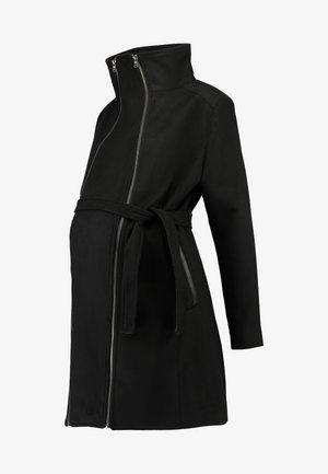 COAT DOUBLE ZIPPER - Cappotto classico - black