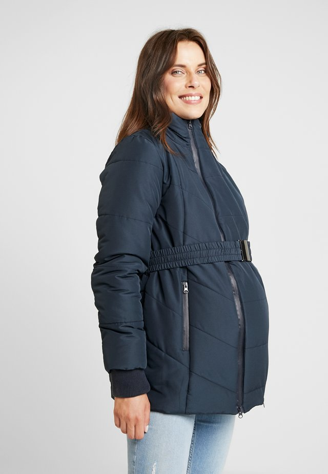 COAT DOUBLE ZIPPER PADDED - Talvitakki - navy