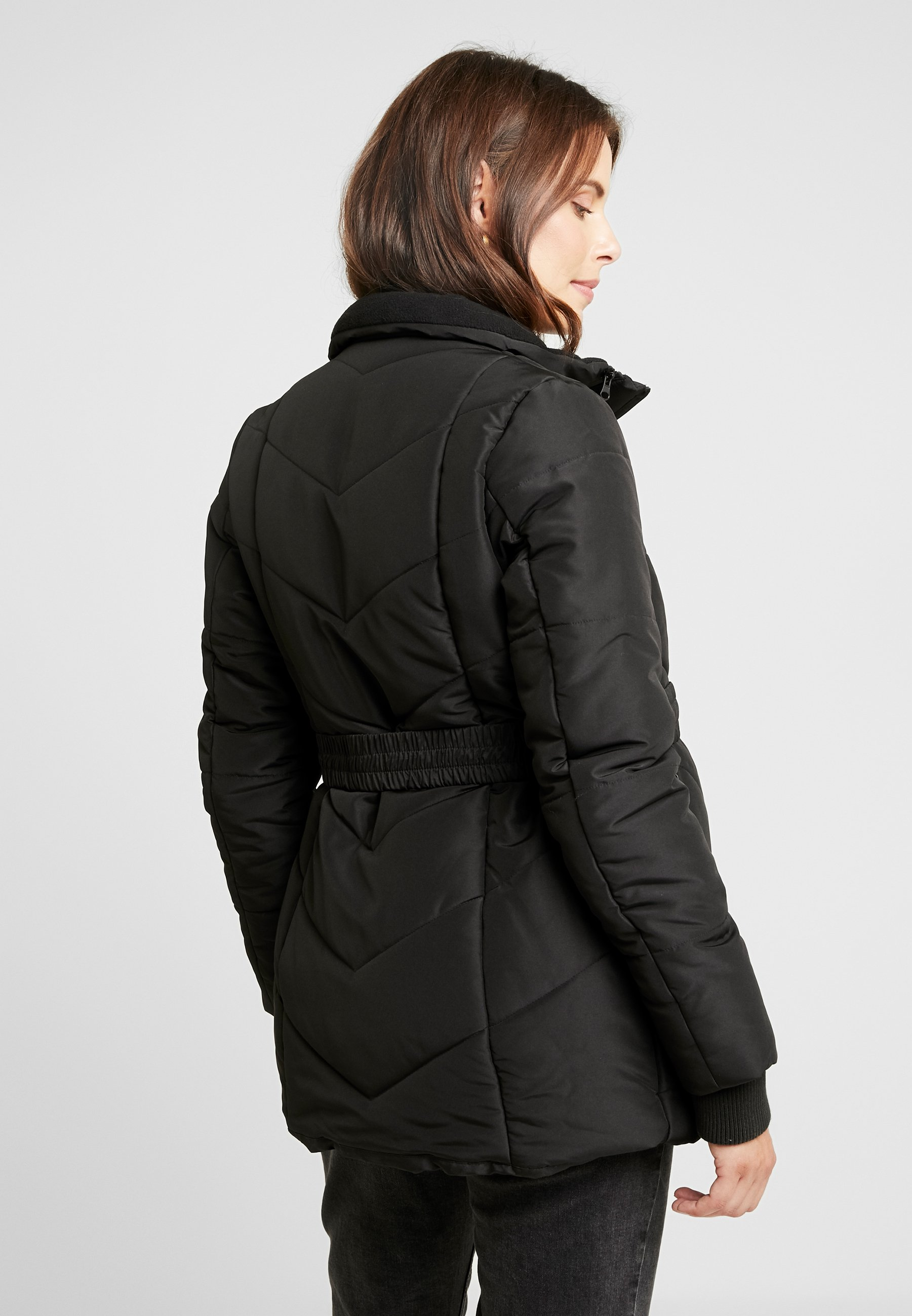 Double Zipper PaddedVeste D'hiver Coat Black Love2wait EIWDYH9be2