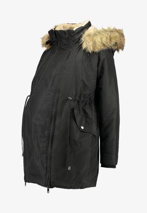 DOUBLE ZIPPER PADDED PIPING - Winterjas - black
