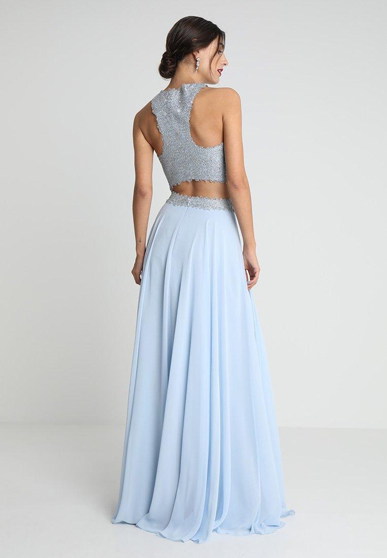 Luxuar Fashion - SET - Maxirock - eisblau