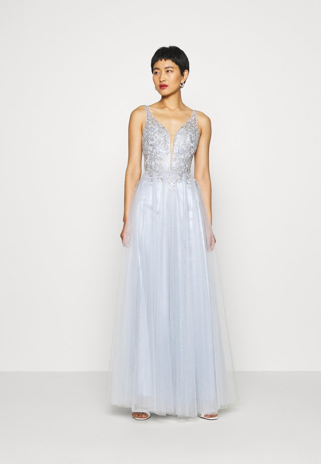 Suknia balowa - eisblau/silber