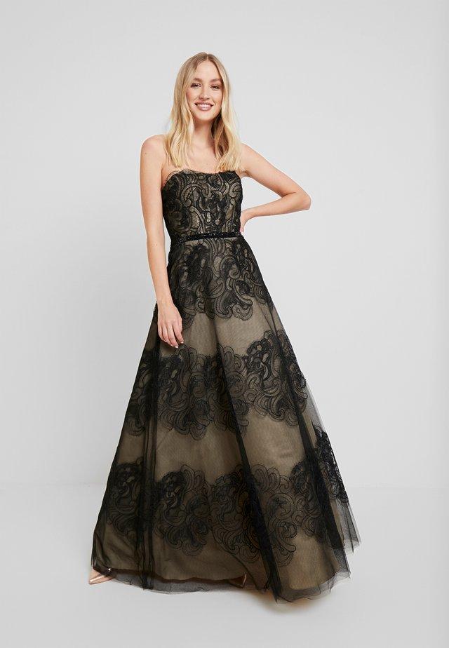 Suknia balowa - schwarz/nude