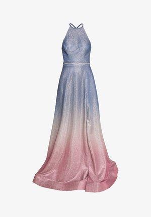 Společenské šaty - blaugrau/rosé