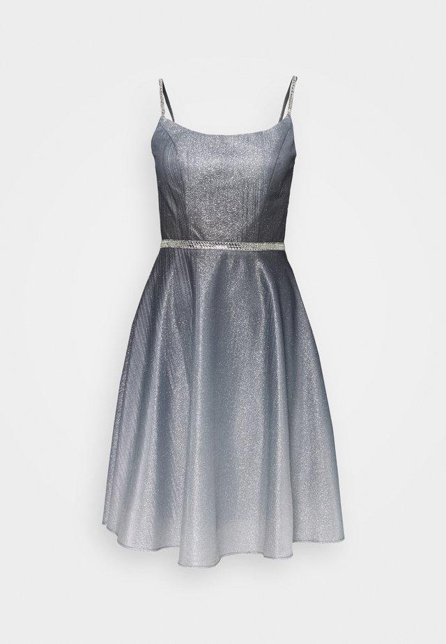 Koktejlové šaty/ šaty na párty - schwarz/silber