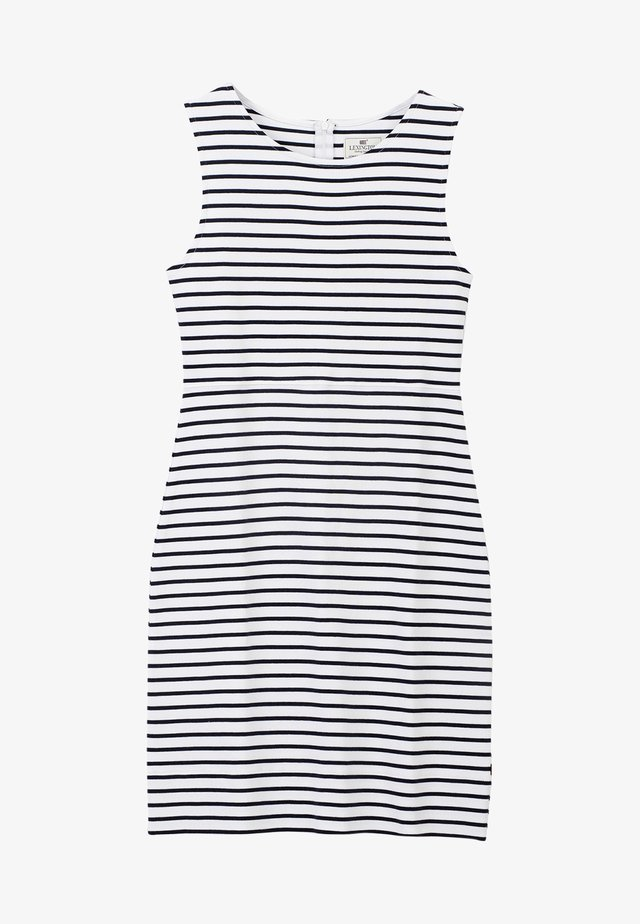 NELLIE TUBULAR - Jersey dress - blue/white