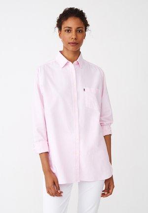 Button-down blouse - pink/white stripe