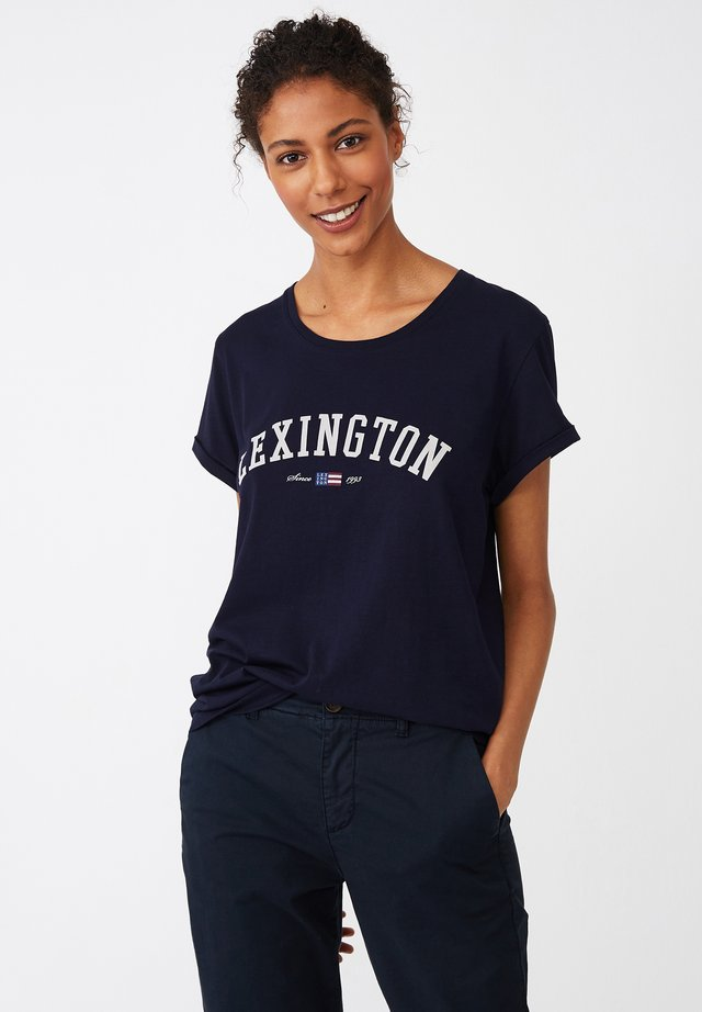 VANESSA  - T-shirt med print - dark blue